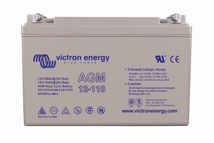 Victron Energy BAT412101084 - AGM-batteri 12V/110 Ah CCA (SAE) 50