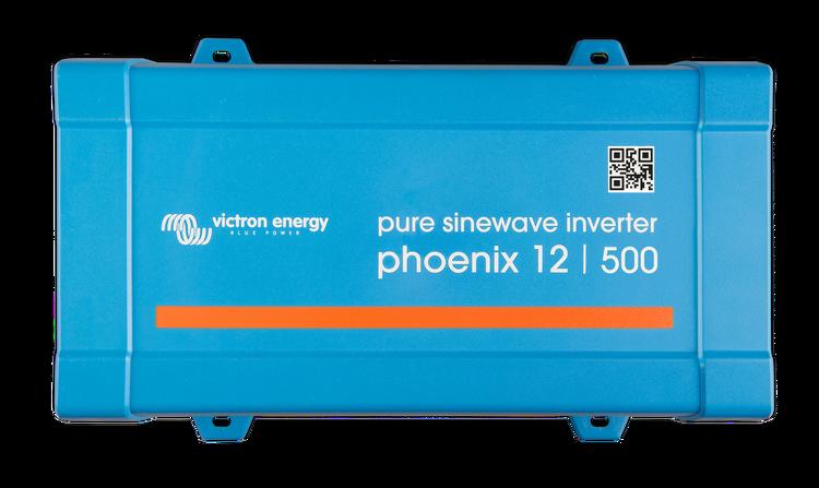 Victron Energy PIN121501200 - Phoenix Inverter 12/500 230V VE.Direct, Schuko-uttag
