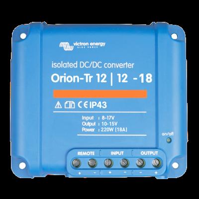 Victron Energy ORI121222110 - Orion-Tr 12/12-18 (220W), isolerad DC-DC-omvandlare, justerbar utspänning 10-15V