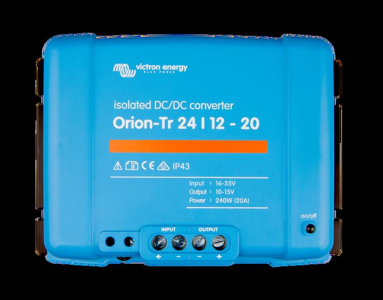 Victron Energy ORI241224110 - Orion-Tr 24/12-20A (240W), isolerad DC-DC-omvandlare, justerbar utspänning 10-15V
