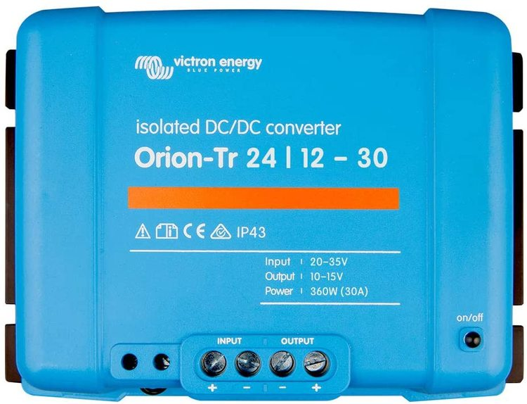 Victron Energy ORI241240110 - Orion-Tr 24/12-30A (360W) Isolated DC-DC-omvandlare