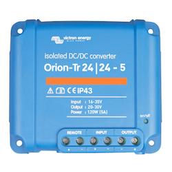 Victron Energy ORI242410110 - Orion-Tr 24/24-5A (120W), isolerad DC-DC-omvandlare, justerbar utspänning 20-30V