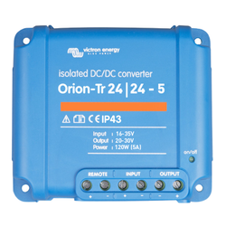 Victron Energy ORI242410110R - Orion-Tr 24/24-5A (120W), isolerad DC-DC-omvandlare, justerbar utspänning 20-30V
