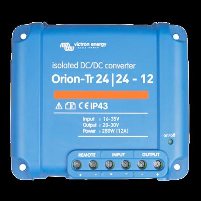 Victron Energy ORI242428110 - Orion-Tr 24/24-12A (280W), isolerad DC-DC-omvandlare, justerbar utspänning 20-30V