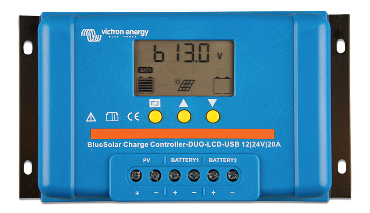 Victron Energy SCC010020060 - BlueSolar PWM-DUO Charge Controller 12/24V-20A