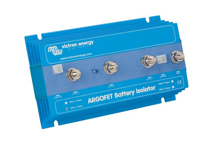 Victron Energy ARG100201020 - Argo FET 100-2, laddningsfördelare för två batterier, 100A