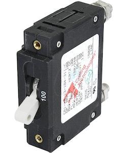 Blue Sea Systems 7250B - Automatsäkring DC/AC 100A 1-p, vit