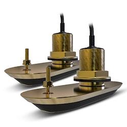 Raymarine - RV-220 RealVision 3D, Allt-i-ett - System genomskrovsgivare i brons 20°, 8m