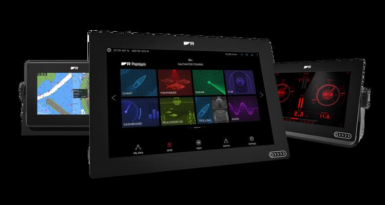 """Raymarine - AXIOM+ 7 RV - 7"""" MFD med integrerad RealVision 3D och 600W"""