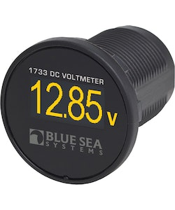 Blue Sea Systems 1733B - Blue Sea Systems Meter Mini OLED DC Voltage (Bulk)