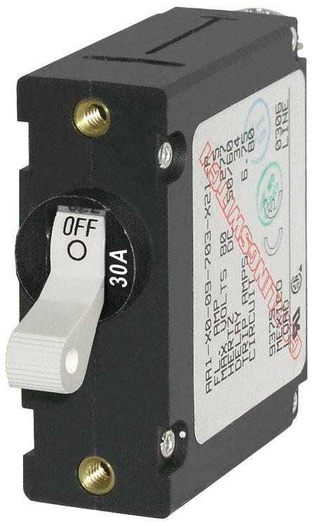 Blue Sea Systems 7222B - Automatsäkring DC/AC 30A 1-p, vit