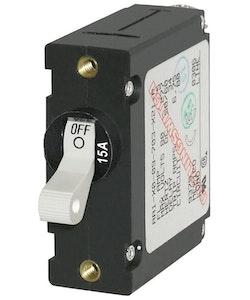 Blue Sea Systems 7210B - Automatsäkring DC/AC 15A 1-p, vit