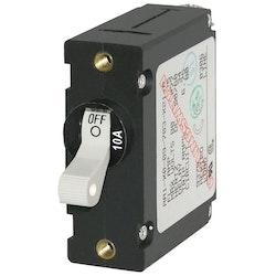 Blue Sea Systems 7206B - Automatsäkring DC/AC 10A 1-p, vit