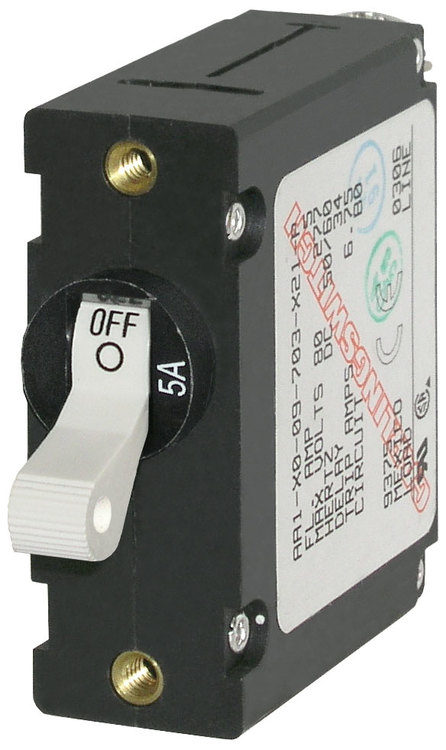 Blue Sea Systems 7202B - Automatsäkring DC/AC 5A 1-p, vit