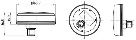 Veratron - GO PLUS, GPS/Glonass/Galileo-mottagare för NMEA 2000, accesspunkt via Bluetooth
