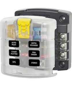 Blue Sea Systems 5028B - Säkringshållare 6 säkringar