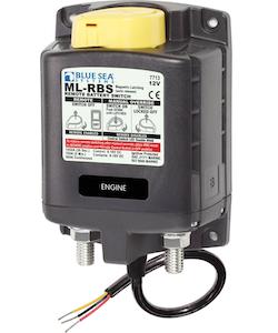 Blue Sea Systems 7713B - Blue Sea Systems Solenoid ML 12V RBS SPST w/Man 2 (exkl. 2155 switch)