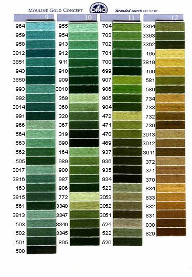 DMC mouliné färg 150-318