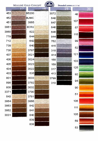 DMC mouliné färg 818 - 911