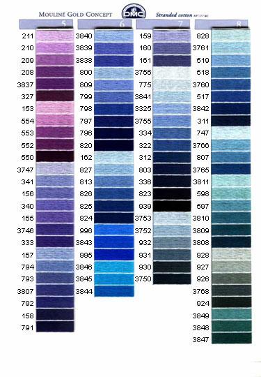 DMC mouliné färg 3329 - 3756
