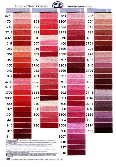 DMC mouliné färg 3823 - 3866