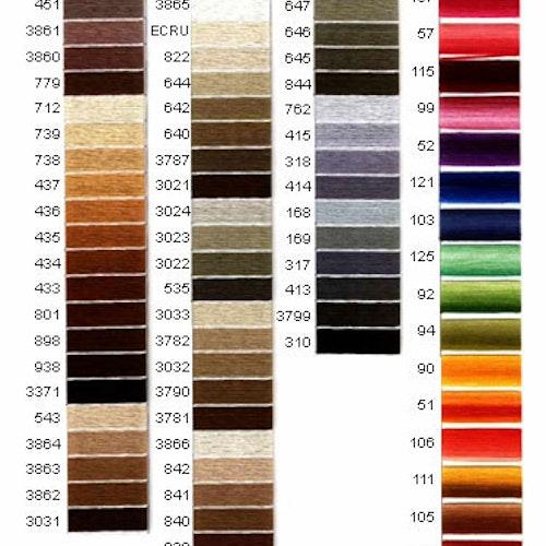 DMC Pärlgarn nr 5 färg nr 500-734