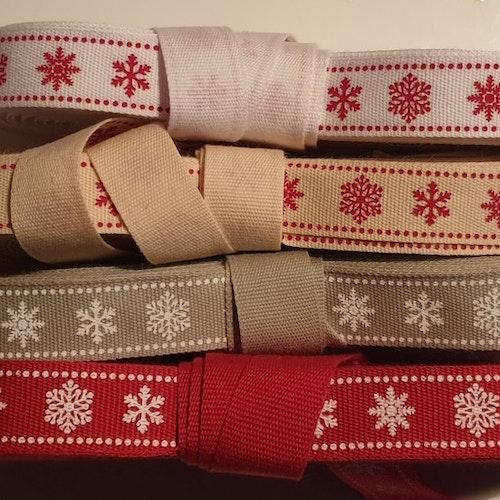 Julband med snöflingor