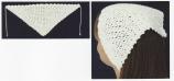 Virkad minisjalett med picoter