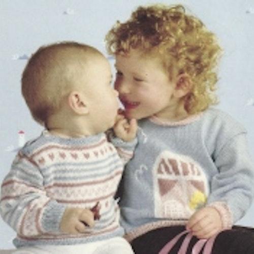 Mönster till 3 barntröjor och en kofta