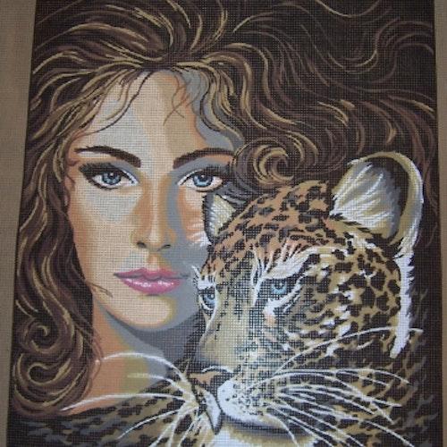 Kvinna och tiger