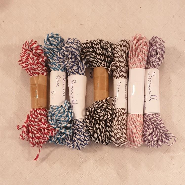 Hobbysnöre bomull - flera färger