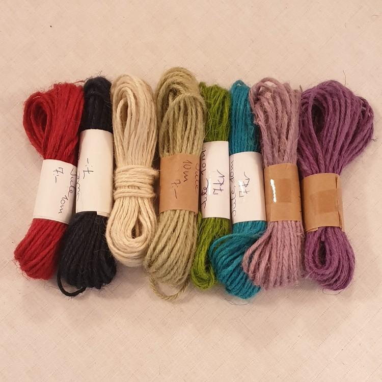Hobbysnöre jute - flera färger