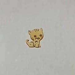 Träknapp - Katt