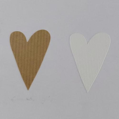 Klisteretiketter - Hjärtan - ribbade