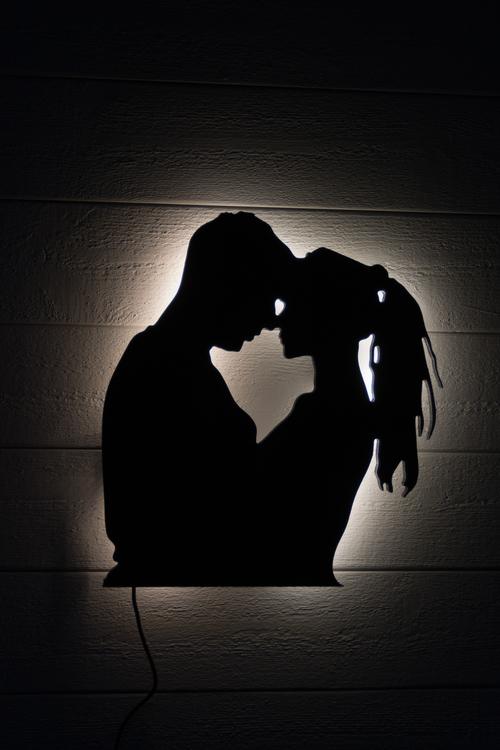 Vägglampa Kärlek - par (överkropp)