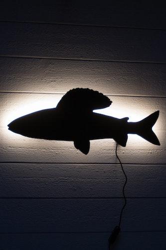 Vägglampa Fisk - Harr