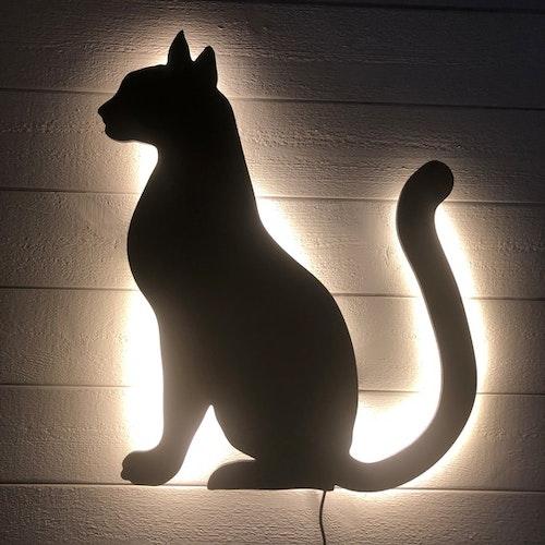Vägglampa Katt