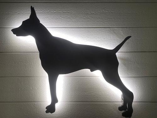 Vägglampa Dobermann från sidan