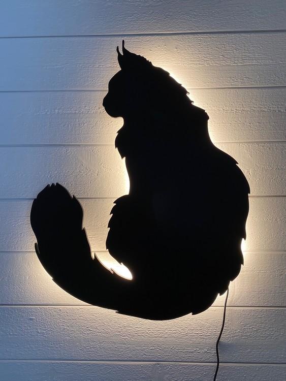 Vägglampa Maine Coon Katt