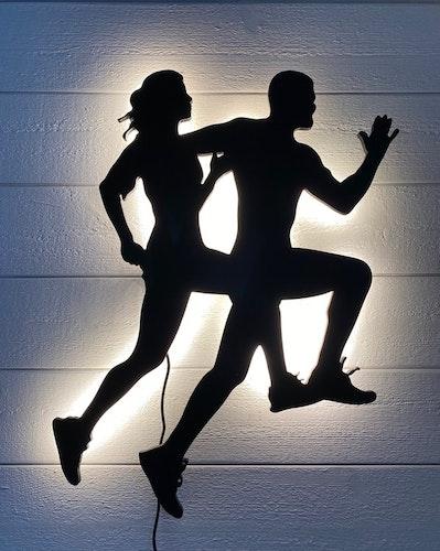 Vägglampa springande par