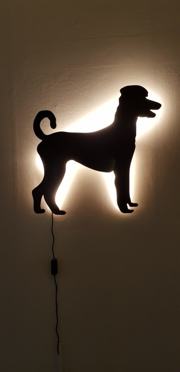 Wall lamp Large poodle