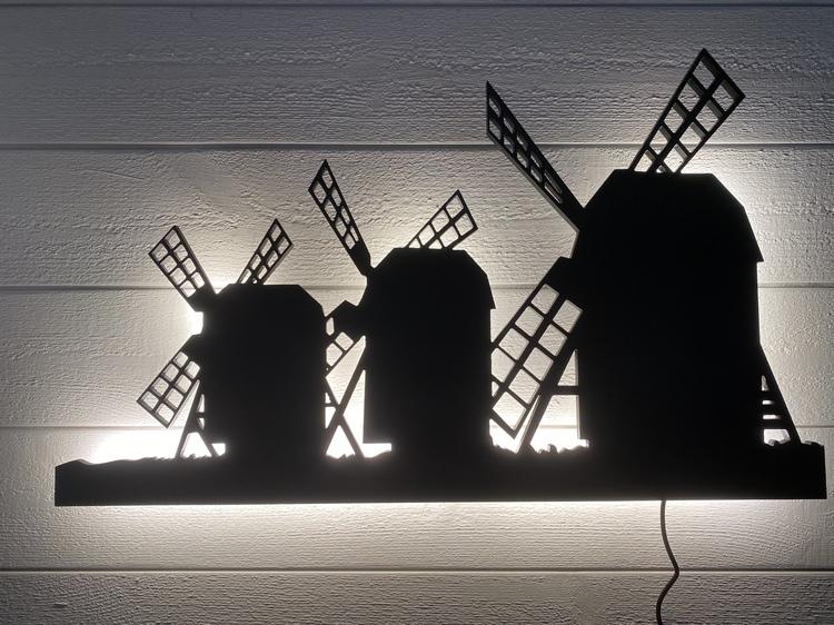 Vägglampa Kvarnarna i Lerkaka