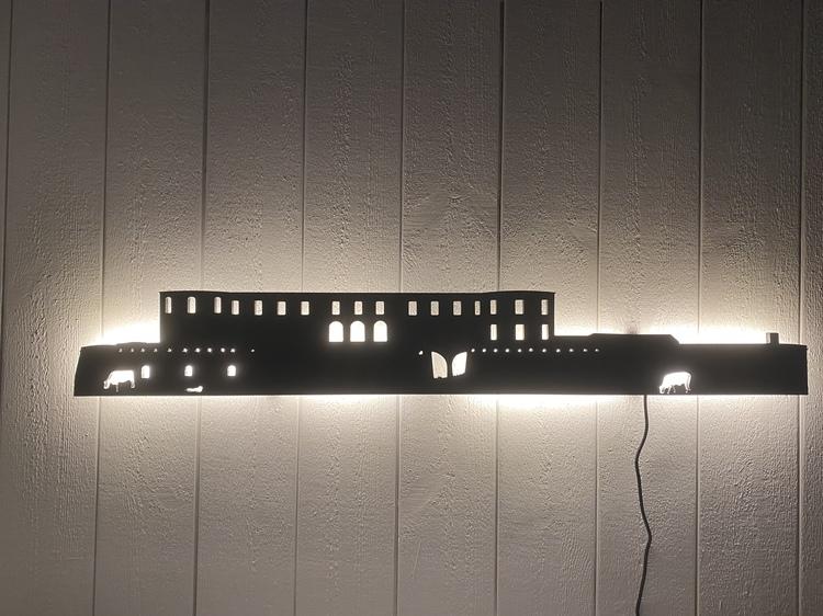 Vägglampa Borgholms Slottsruin