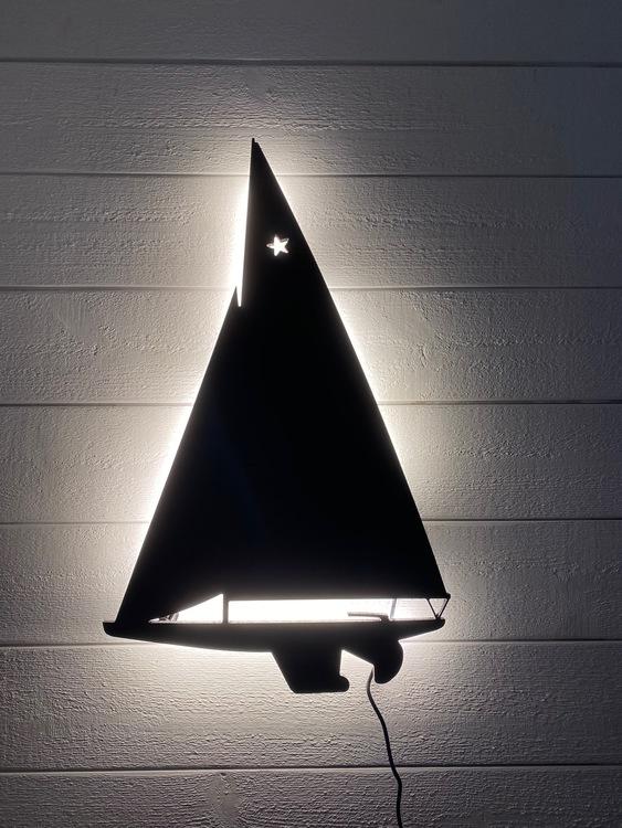 Vägglampa Segelbåt Starbåt
