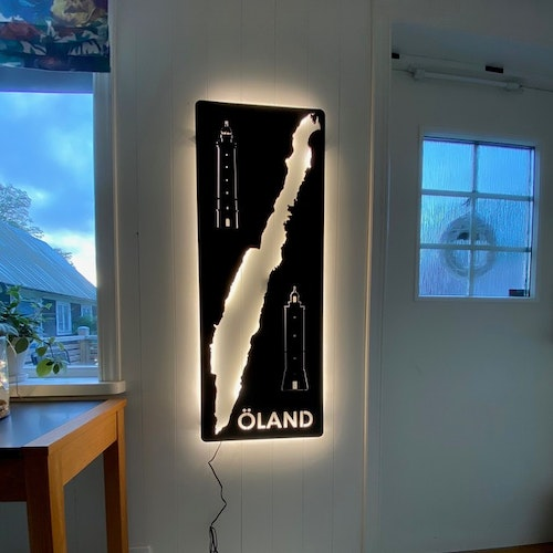 Wall lamp Öland with its two lighthouses