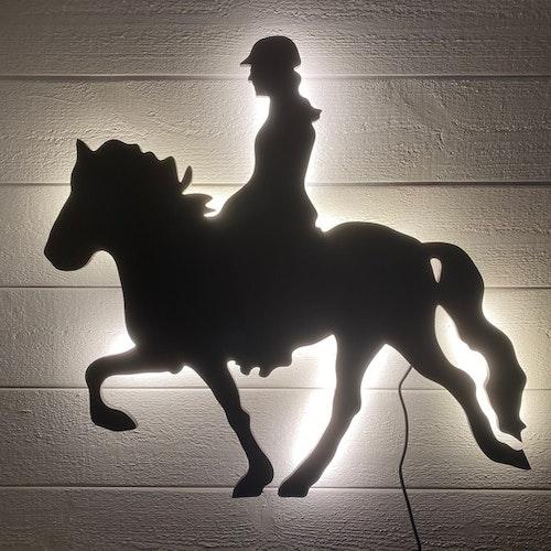 Vägglampa Islandshäst Tölt med ryttare