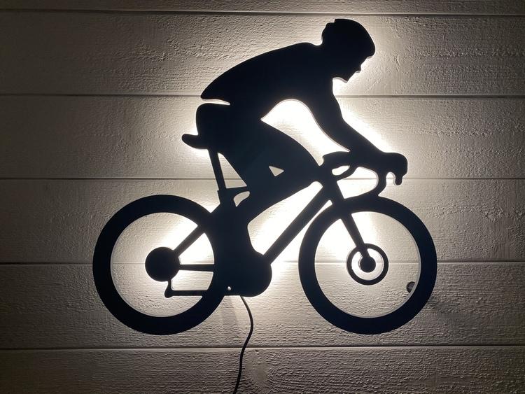 Vägglampa Cyklist