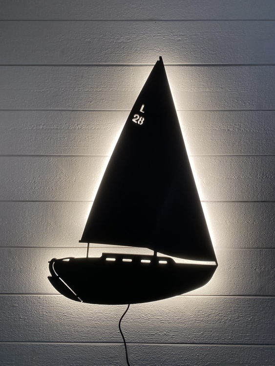Vägglampa Segelbåt Laurinkoster L28