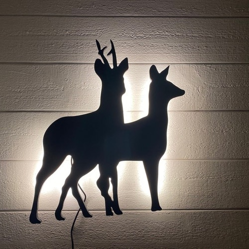 Vägglampa Rådjurs par