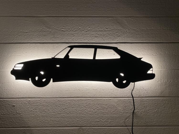 Vägglampa Bil SAAB 900 Turbo